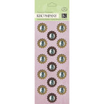K and Company - Flora and Fauna Collection - Adhesive Chipboard with Glitter and Gem Accents - Medallion