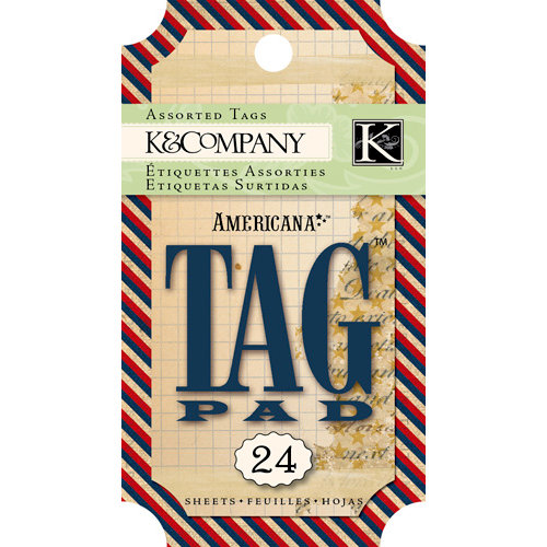 K and Company - Americana Collection - Tag Pad