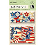 K and Company - Americana Collection - Layered Accents with Foil Accents, BRAND NEW
