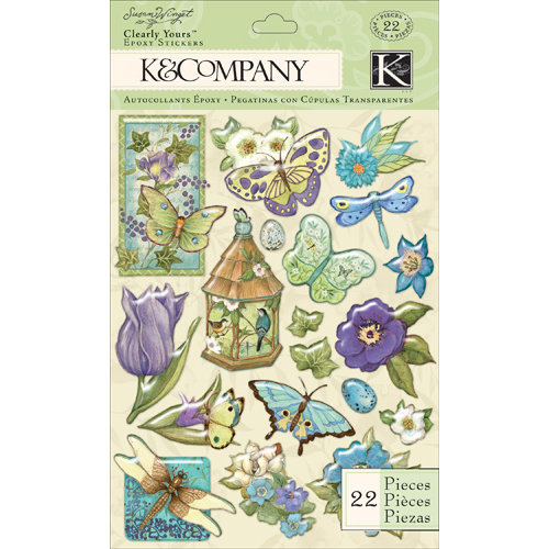 K and Company - Botanical Collection - Clearly Yours - Epoxy Stickers - Icon
