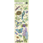 K and Company - Botanical Collection - Adhesive Chipboard with Gem and Glitter Accents - Icon