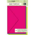K and Company - Color Basics Collection - Cards and Envelopes - Radiant Multi-Color