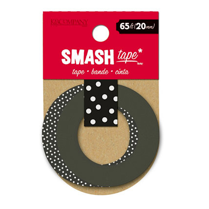 K and Company - SMASH Collection - Decorative Tape - Black Dots
