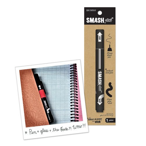 K and Company - SMASH Collection - Pen and Glue Stick - Black