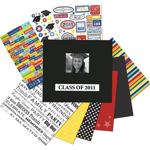K and Company - 12 x 12 Scrapbook Album Kit - Graduation - 2011