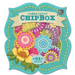 K and Company - Abrianna Collection - Chipboard Box with Glitter Accents - Icon