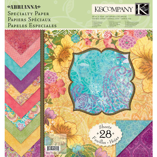 K and Company - Abrianna Collection - 12 x 12 Specialty Paper Pad