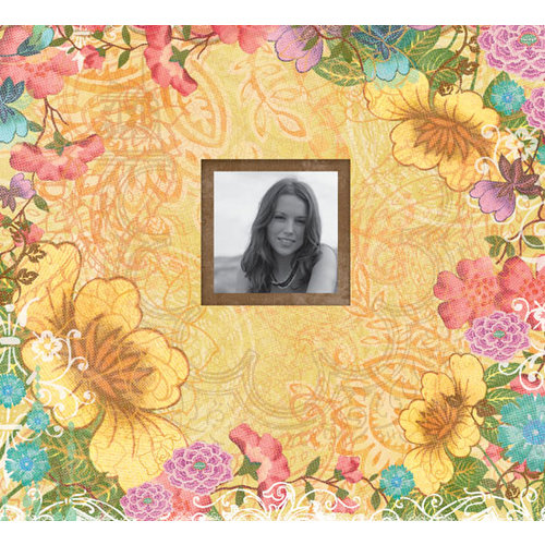 K and Company - Abrianna Collection - 12 x 12 Scrapbook Album - Floral