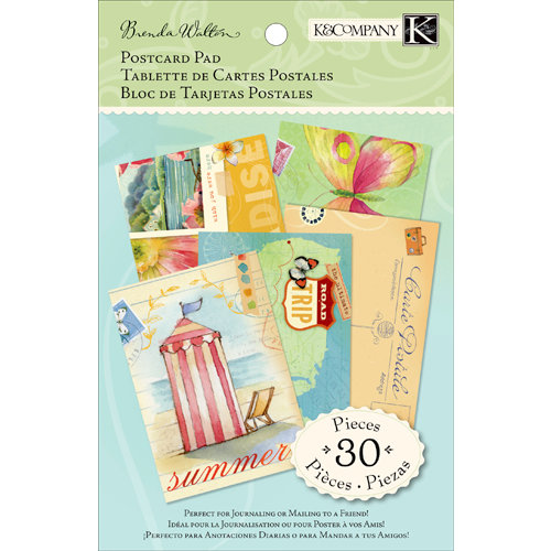 K and Company - Around the World Collection - Postcard Paper Pad
