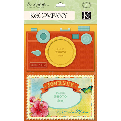 K and Company - Around the World Collection - Journal Pockets with Gem Accents