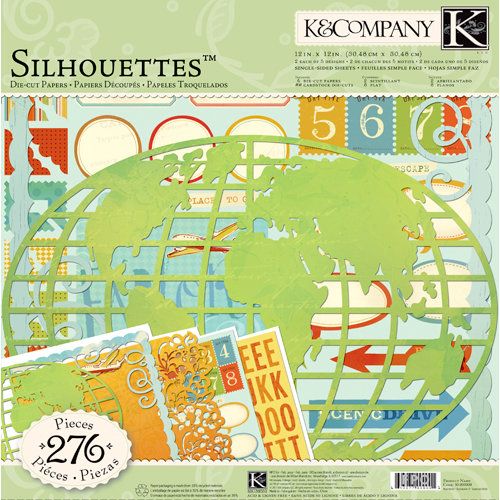 K and Company - Around the World Collection - 12 x 12 Silhouettes Die Cut Paper Pack