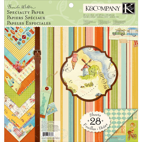 K and Company - Around the World Collection - 12 x 12 Specialty Paper Pad