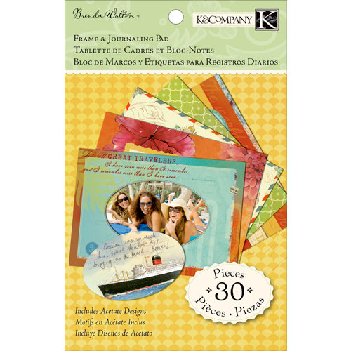 K and Company - Around the World Collection - Frame and Journaling Pad