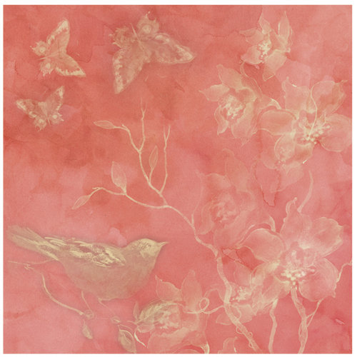 K and Company - Nature Collection - 12 x 12 Shimmer Paper - Bird