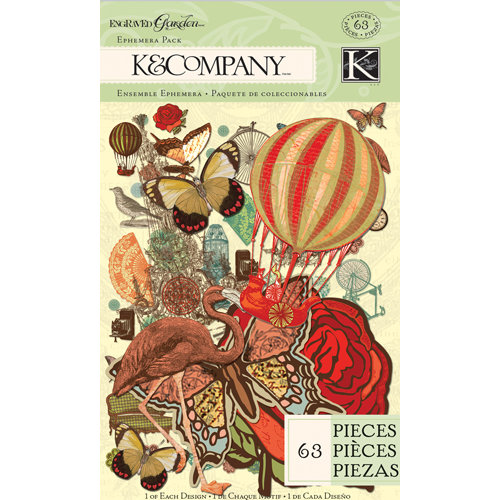 K and Company - Engraved Garden Collection - Ephemera Pack