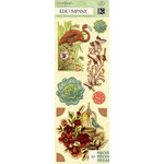 K and Company - Engraved Garden Collection - 3 Dimensional Stickers Medley - Icon