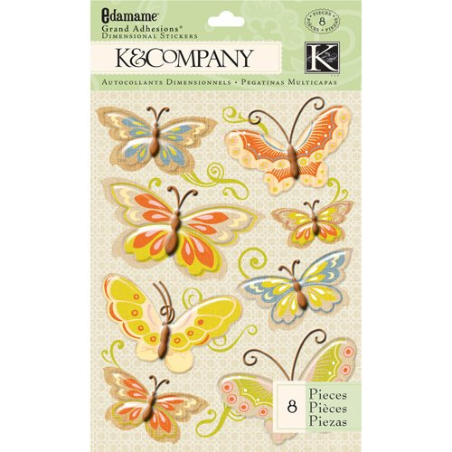 K and Company - Edamame Collection - Grand Adhesions - Butterfly