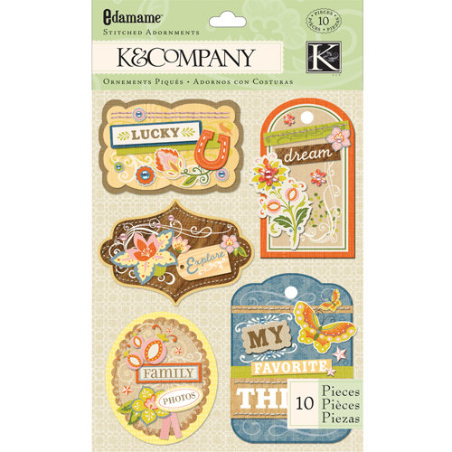 K and Company - Edamame Collection - Stitched Adornments