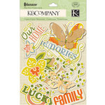 K and Company - Edamame Collection - Die Cut Cardstock Pieces