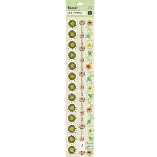 K and Company - Edamame Collection - Adhesive Borders - Specialty