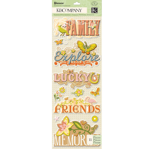 K and Company - Edamame Collection - Adhesive Chipboard - Word