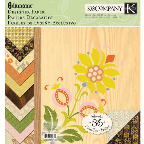 K and Company - Edamame Collection - 12 x 12 Designer Paper Pad
