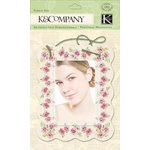 K and Company - Watercolor Bouquet Collection - Fabric Art - Stitched Frame
