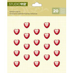 K and Company - Studio 112 Collection - Adhesive Gems - Heart