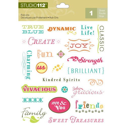 K and Company - Studio 112 Collection - Rub Ons - Word