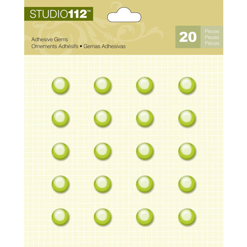 K and Company - Studio 112 Collection - Adhesive Gems - Green Circle