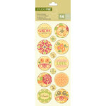 K and Company - Studio 112 Collection - Epoxy Stickers - Floral