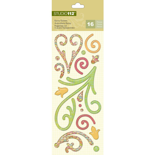 K and Company - Studio 112 Collection - Epoxy Stickers - Swirls