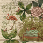 K and Company - Engraved Garden Collection - 12 x 12 Paper - Sofa
