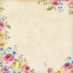 K and Company - Watercolor Bouquet Collection - 12 x 12 Paper with Glitter Accents - Garden Treasures