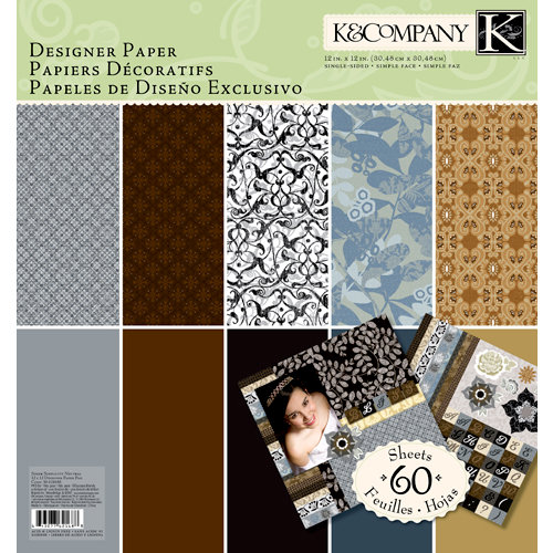 K and Company - Sheer Simplicity Collection - 12 x 12 Designer Paper Pad - Neutral
