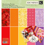 K and Company - Sheer Simplicity Collection - 12 x 12 Designer Paper Pad - Warm