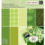 K and Company - Sheer Simplicity Collection - 12 x 12 Designer Paper Pad - Green