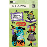 K and Company - Halloween Collection - 3 Dimensional Stickers Medley with Epoxy Gem and Varnish Accents - Witch