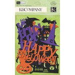 K and Company - Halloween Collection - Glitter Die Cut Cardstock Pieces