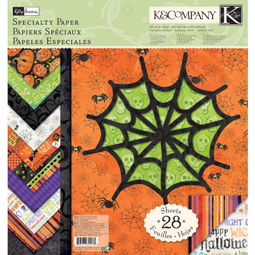K and Company - Halloween Collection - 12 x 12 Specialty Paper Pad