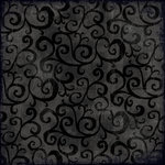 K and Company - Halloween Collection - 12 x 12 Glitter Paper - Vine