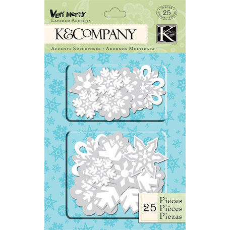 K and Company - Very Merry Collection - Christmas - Layered Accents - Snowflake