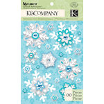 K and Company - Very Merry Collection - Christmas - Grand Adhesions - Snowflake