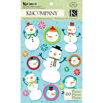 K and Company - Very Merry Collection - Christmas - Grand Adhesions - Snowman