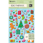 K and Company - Very Merry Collection - Christmas - Pillow Stickers - Icon