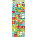K and Company - Very Merry Collection - Christmas - Embossed Stickers - Word