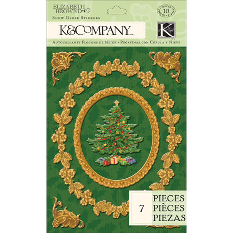 K and Company - Visions of Christmas Collection - Embossed Frames