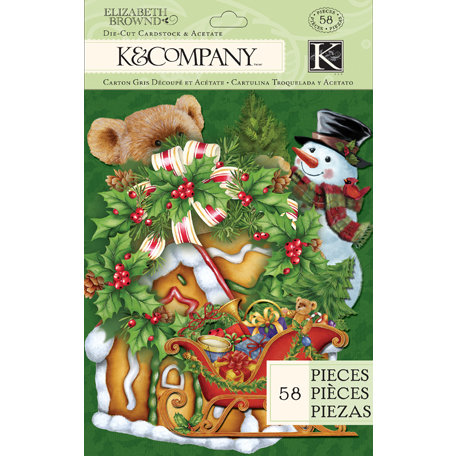 K and Company - Visions of Christmas Collection - Die Cut Cardstock and Acetate Pieces