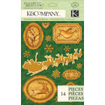 K and Company - Visions of Christmas Collection - Embossed Foil Stickers