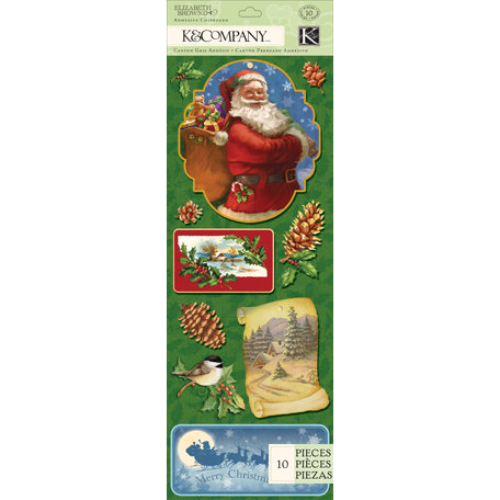 K and Company - Visions of Christmas Collection - Adhesive Chipboard - Santa